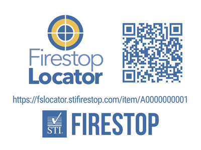 Firestop Locator Single Label